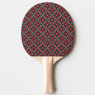 Black White Red All Under Ping Pong Paddle