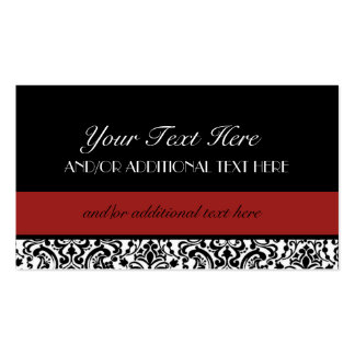 Black, White, Red Business Card