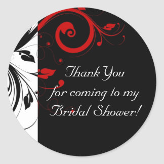 Black, White, Red Reverse Swirl Custom Sticker