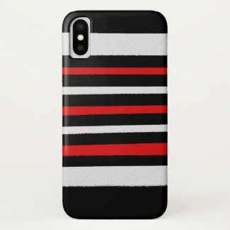 Black White Red Stripes Cool Simple Patterns Case-Mate iPhone Case