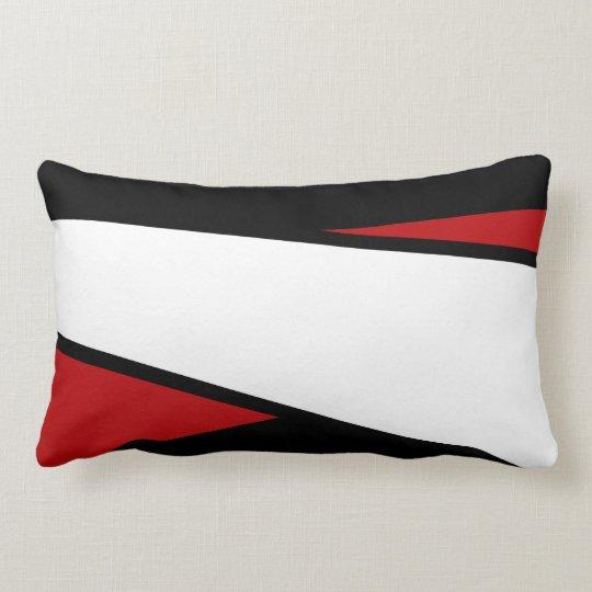 Black, White, Red Stripes Design, Lumbar Pillow