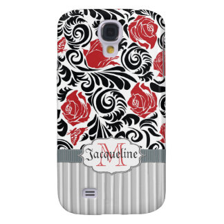 Black, white, red swirls roses iPhone 3G/3GS Spec