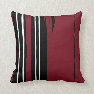 Black White Red Throw Pillow