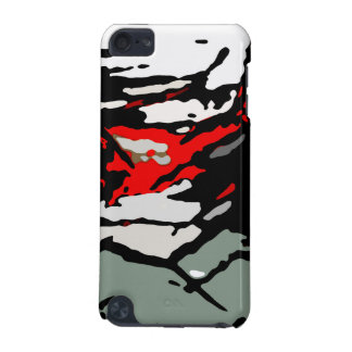 Black White Red Turquoise Pattern iPod Touch 5G Case