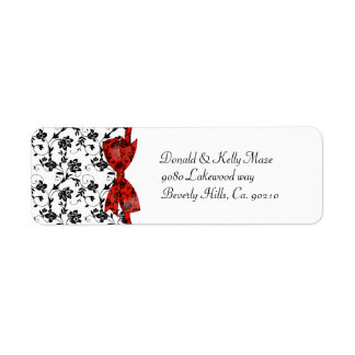 Black White & Red Wedding Satin Floral