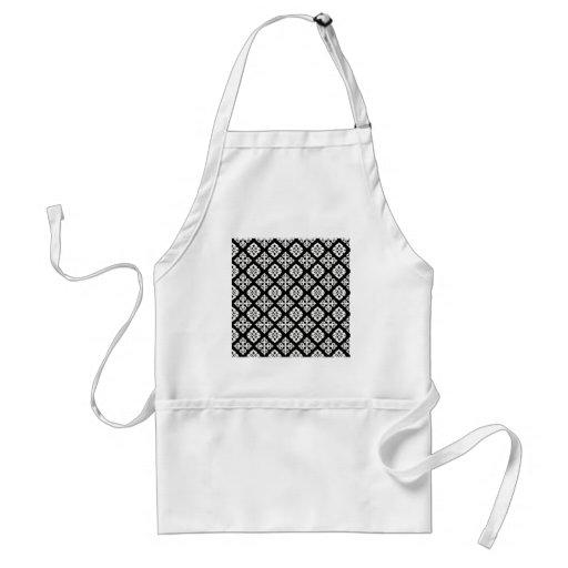 Black & White Regal Pattern Apron