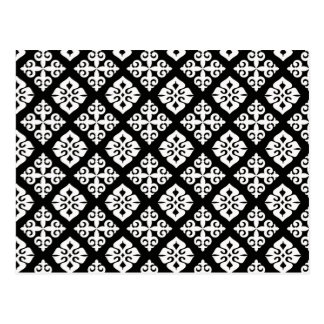 Black & White Regal Pattern Post Cards