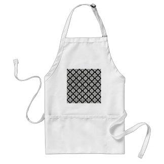 Black & White Regal Pattern Standard Apron