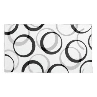 black/white Retro Circle design king pillow case Pillowcase