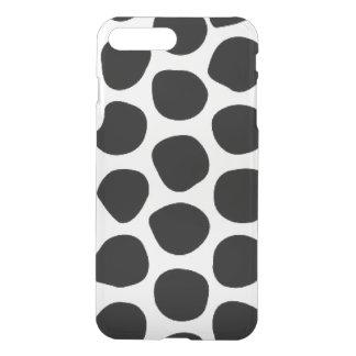 Black & White Retro Dot Illustration iPhone 7 Plus Case