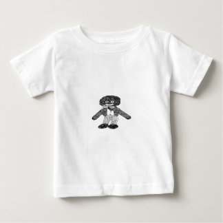 Black & White Retro Golly Baby T-Shirt