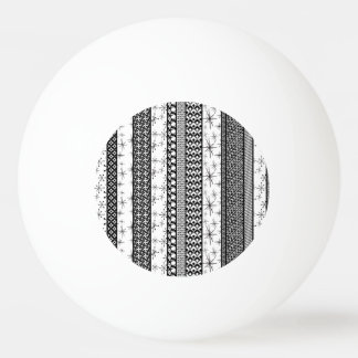 Black & White Retro Pattern Stripes 1 Ping Pong Ball