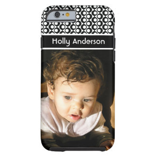 Black & White Retro Patterns & a Picture You Love Tough iPhone 6 Case