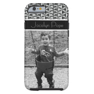Black & White Retro Patterns & Beloved Photo Tough iPhone 6 Case