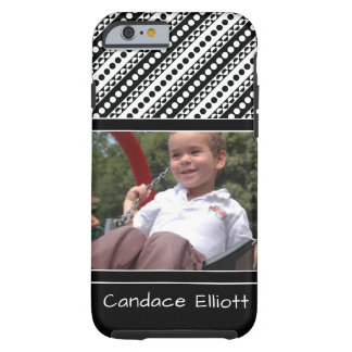 Black & White Retro Patterns & Your Favorite Photo Tough iPhone 6 Case