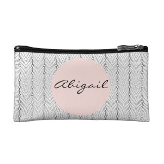 Black & White Retro Personalized Cosmetic  Bag