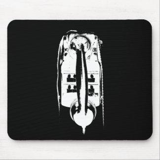 Black & White Retro Phone - Mousepad