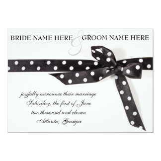 Black & White Ribbon Card