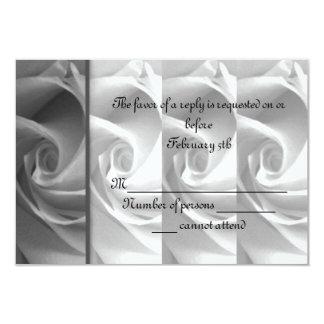 Black & White Rose RSVP Card #1 - ELLEN
