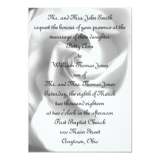 Black & White Rose Wedding Invitation - ELLEN