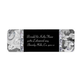Black & White Roses & Diamond Swirls Wedding