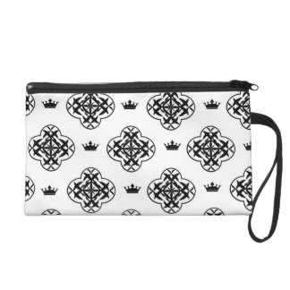 Black & white royal pattern Bagettes Bag