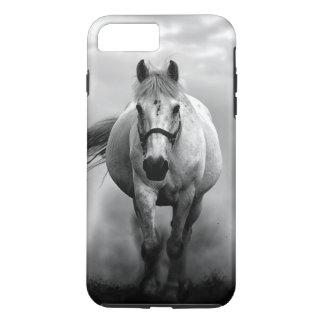 Black White Running Horse Freedom iPhone 7 Plus Case