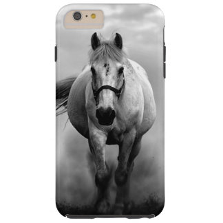 Black White Running Horse Freedom Tough iPhone 6 Plus Case