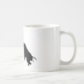 Black White Running Horse Silhouette Basic White Mug