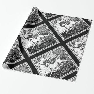 Black & White Running Unicorn Gifts