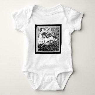Black & White Running Unicorn Gifts Baby Bodysuit
