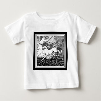 Black & White Running Unicorn Gifts Baby T-Shirt
