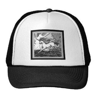 Black & White Running Unicorn Gifts Trucker Hat