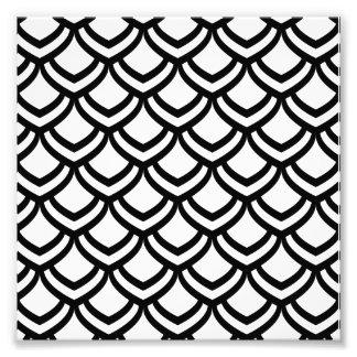Black & White Scales Pattern Photo Print