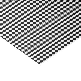 Black White Scales Pattern Tissue Paper