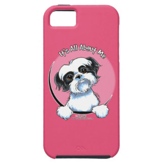 Black/White Shih Tzu IAAM iPhone 5 Cases