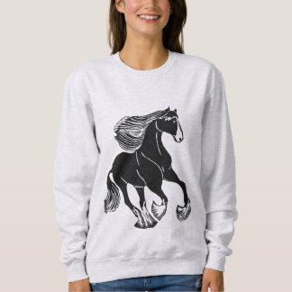 Black & White Shire Horse Women's Sweatshirt