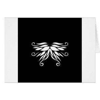Black white Siberia Nordic ornaments Card