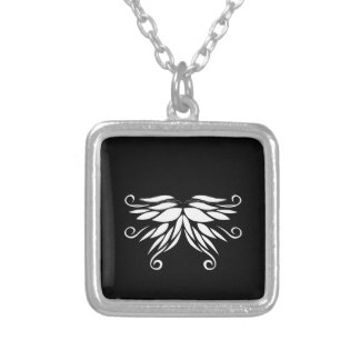 Black white Siberia Nordic ornaments Silver Plated Necklace