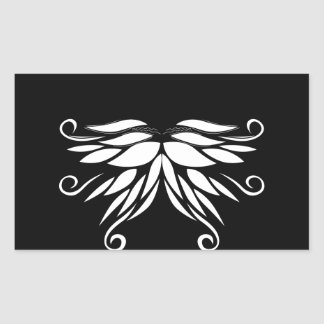 Black white Siberia Nordic ornaments Sticker