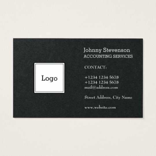 Black white sides logo cover business card