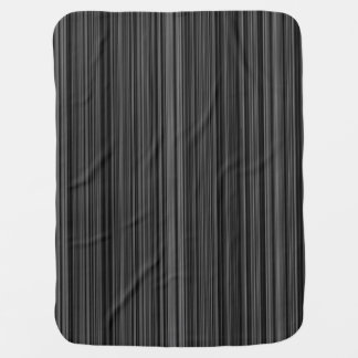 Black white silver grey  retro stripe baby blanket