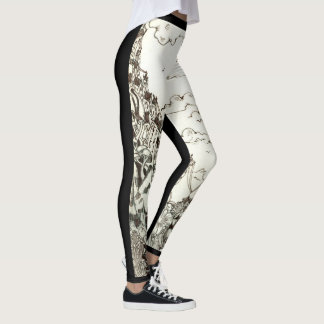 Black & White Sketch Leggings