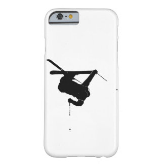 Black & White Skier Barely There iPhone 6 Case