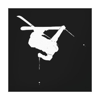 Black & White Skier Canvas Print