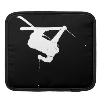 Black & White Skier iPad Sleeve