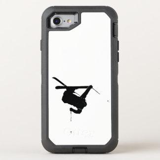 Black & White Skier OtterBox Defender iPhone 8/7 Case