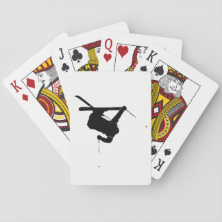 Black & White Skier Playing Cards