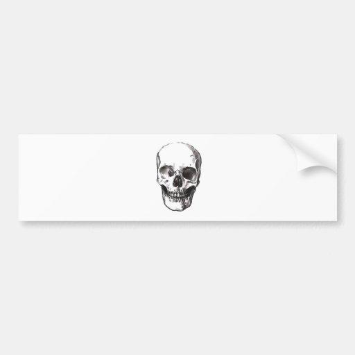 Black & White Skull Bumper Sticker