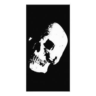 Black & White Skull Customized Photo Card